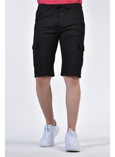 Rodi Jeans Erkek Yıkamalı Gabardin Kargo Cepli Kapri RD21YE131103 Siyah